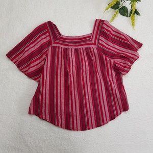 Universal Thread Short Sleeve Stripe Crop Top